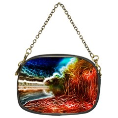 Abstract On The Wisconsin River Chain Purse (one Side)