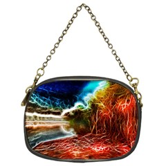 Abstract On The Wisconsin River Chain Purse (two Sided)
