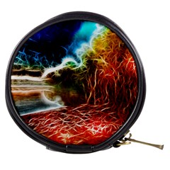 Abstract On The Wisconsin River Mini Makeup Case