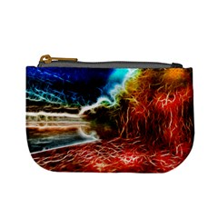 Abstract On The Wisconsin River Coin Change Purse