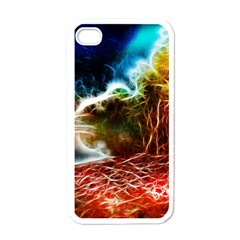 Abstract On The Wisconsin River Apple Iphone 4 Case (white)