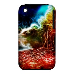 Abstract on the Wisconsin River Apple iPhone 3G/3GS Hardshell Case (PC+Silicone)