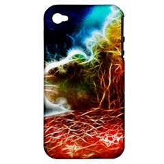 Abstract On The Wisconsin River Apple Iphone 4/4s Hardshell Case (pc+silicone)