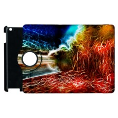 Abstract on the Wisconsin River Apple iPad 3/4 Flip 360 Case