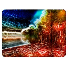 Abstract On The Wisconsin River Samsung Galaxy Tab 7  P1000 Flip Case