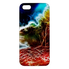 Abstract On The Wisconsin River Iphone 5s Premium Hardshell Case
