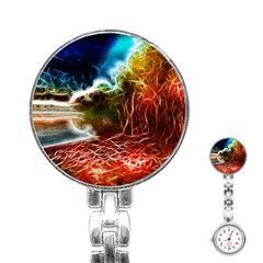 Abstract On The Wisconsin River Stainless Steel Nurses Watch