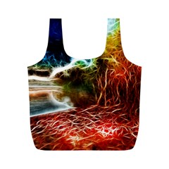 Abstract on the Wisconsin River Reusable Bag (M)