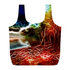 Abstract on the Wisconsin River Reusable Bag (L)