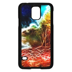 Abstract On The Wisconsin River Samsung Galaxy S5 Case (black)