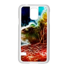 Abstract On The Wisconsin River Samsung Galaxy S5 Case (white)