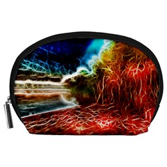 Abstract On The Wisconsin River Accessory Pouch (large)