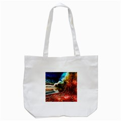Abstract on the Wisconsin River Tote Bag (White)