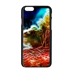 Abstract on the Wisconsin River Apple iPhone 6 Black Enamel Case