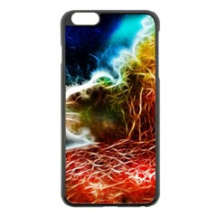 Abstract on the Wisconsin River Apple iPhone 6 Plus Black Enamel Case