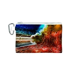 Abstract on the Wisconsin River Canvas Cosmetic Bag (Small)