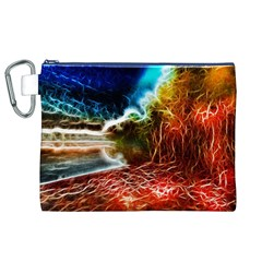 Abstract on the Wisconsin River Canvas Cosmetic Bag (XL)