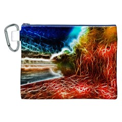 Abstract on the Wisconsin River Canvas Cosmetic Bag (XXL)