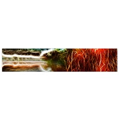 Abstract On The Wisconsin River Flano Scarf (small)