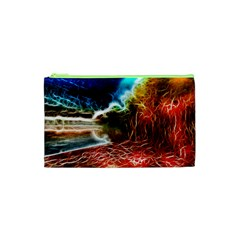 Abstract On The Wisconsin River Cosmetic Bag (xs)