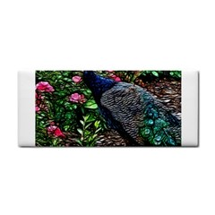 Peacock With Roses Hand Towel