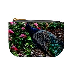 Peacock With Roses Coin Change Purse