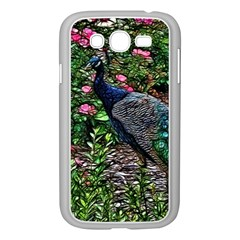 Peacock with roses Samsung Galaxy Grand DUOS I9082 Case (White)