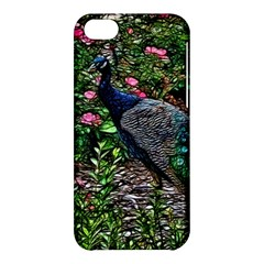 Peacock With Roses Apple Iphone 5c Hardshell Case