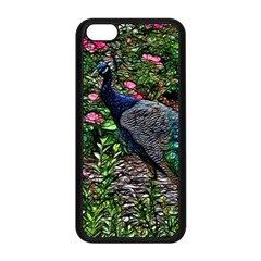 Peacock with roses Apple iPhone 5C Seamless Case (Black)