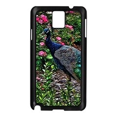 Peacock with roses Samsung Galaxy Note 3 N9005 Case (Black)