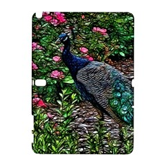 Peacock With Roses Samsung Galaxy Note 10 1 (p600) Hardshell Case