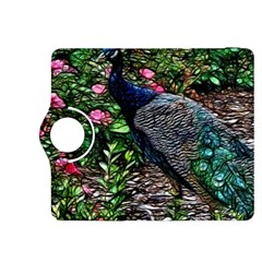 Peacock with roses Kindle Fire HDX 8.9  Flip 360 Case