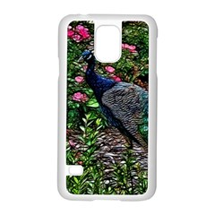 Peacock with roses Samsung Galaxy S5 Case (White)