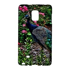 Peacock with roses Samsung Galaxy Note Edge Hardshell Case