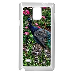 Peacock With Roses Samsung Galaxy Note 4 Case (white)