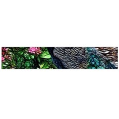 Peacock with roses Flano Scarf (Large)