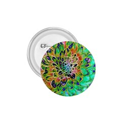 Abstract Peacock Chrysanthemum 1 75  Button