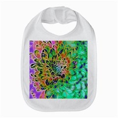 Abstract Peacock Chrysanthemum Bib