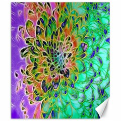 Abstract peacock Chrysanthemum Canvas 20  x 24  (Unframed)