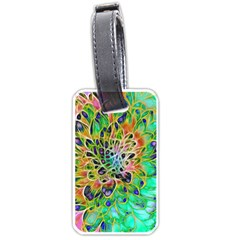 Abstract peacock Chrysanthemum Luggage Tag (Two Sides)
