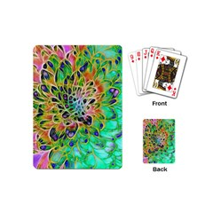 Abstract Peacock Chrysanthemum Playing Cards (mini)