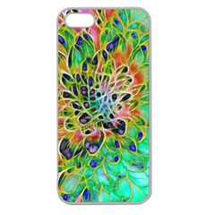 Abstract Peacock Chrysanthemum Apple Seamless Iphone 5 Case (clear)