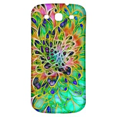 Abstract Peacock Chrysanthemum Samsung Galaxy S3 S Iii Classic Hardshell Back Case