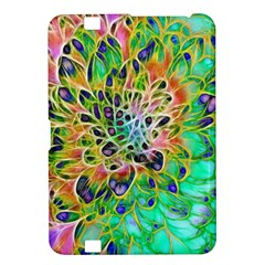 Abstract peacock Chrysanthemum Kindle Fire HD 8.9  Hardshell Case