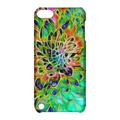 Abstract Peacock Chrysanthemum Apple Ipod Touch 5 Hardshell Case With Stand