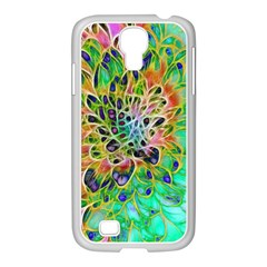 Abstract Peacock Chrysanthemum Samsung Galaxy S4 I9500/ I9505 Case (white)