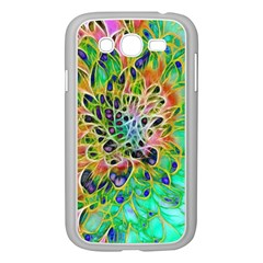 Abstract peacock Chrysanthemum Samsung Galaxy Grand DUOS I9082 Case (White)