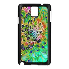 Abstract peacock Chrysanthemum Samsung Galaxy Note 3 N9005 Case (Black)