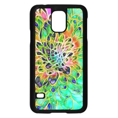 Abstract peacock Chrysanthemum Samsung Galaxy S5 Case (Black)