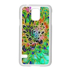 Abstract peacock Chrysanthemum Samsung Galaxy S5 Case (White)